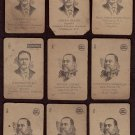 LION COFFEE - Early 1900s Educational Game Cards - partial set of 43