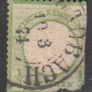 GERMANY 19th Century Postage Stamp - 1872 - 1/3gr Imperial Eagle (Sc. #15) - Used