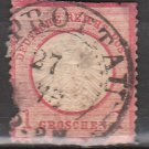 GERMANY 19th Century Postage Stamp - 1872 - 1gr Imperial Eagle (Sc. #17) - Used