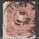 GERMANY 19th Century Postage Stamp - 1880 - 25pf Imperial Eagle (Sc. #41) - Used