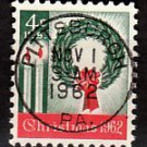 Bullseye (SOTN) First Day Dated Stamp - 1962 Christmas (#1205)