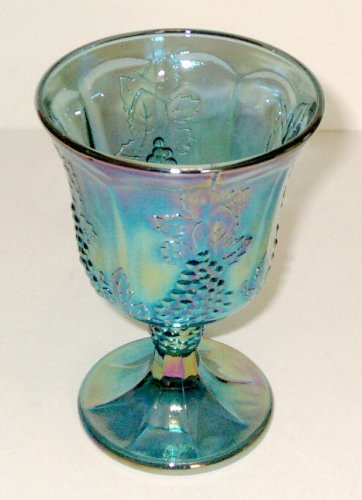 1970s Carnival Glass Wine Glass or Goblet