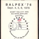 BALPEX 1976 - Baltimore Philatelic Society Souvenir Folder - covers, postcards, etc.