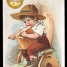 CERESOTA Flour Victorian Trade Card - Boy with carving knife