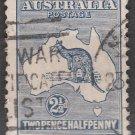 AUSTRALIA Postage Stamp - 1915 - 2½p Kangaroo & Map (Sc. #46) - Used