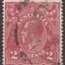 AUSTRALIA Postage Stamp - 1924 - 2p King George V (Sc. #29) - Used