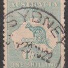 AUSTRALIA Postage Stamp - 1916 - 1sh Kangaroo & Map (Sc. #51) - Used