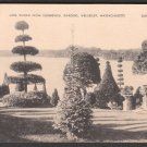 1930s (?) WELLESLEY, MASSACHUSETTS - Lake Waban from Hunnewell Gardens - Postcard