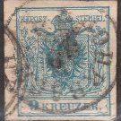 AUSTRIA Postage Stamp - 1850 - 9kr Coat of Arms (Sc. #5) - Used