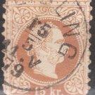 AUSTRIA Postage Stamp - 1867 - 15kr Emperor Franz Josef (Sc. #31) - Used