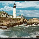 1950s PORTLAND, MAINE - Portland Head Light House - Postcard