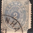 DENMARK Postage Stamp - 1870 - 2s Royal Emblems (Sc. #16) - Used