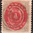 DENMARK Postage Stamp - 1870 - 4s Royal Emblems (Sc. #18) - Used