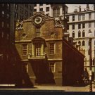 1950s BOSTON, MASSACHUSETTS - Old State House - Postcard