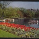 1950s BOSTON, MASSACHUSETTS - Public Gardens and Swan Boats - Postcard