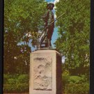 1950s CONCORD, MASSACHUSETTS - Minute Man Statue - Postcard