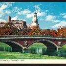 1960s CAMBRIDGE, MASSACHUSETTS - Harvard University, Charles River - Postcard