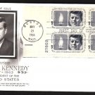 ART CRAFT - 1964 John F. Kennedy Memorial (#1246) FDC - PB UA