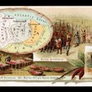 1889 Victorian Trade Card - Arbuckle Brothers Coffee Company - Map of THE GUIANAS (#87)