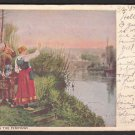 "1907 Artistic Post Card - ""HAILING THE FERRYMAN"""