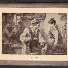 "1910 Artistic Embossed Post Card - ""IN LOVE"""