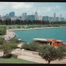 1950s CHICAGO, ILLINOIS - Panoramic View of Chicago Skyline from Shedd Aquarium - Unused Postcard
