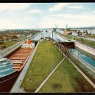 1950s SOO LOCKS (MacArthur Lock) - Sault Saint Marie, Michigan - Unused Postcard