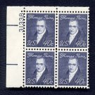 1968 THOMAS PAINE 40¢ (Sc. #1292) Plate Block - MNH