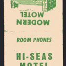 HI-SEAS Motel - Matchbook Cover - Fort Bragg, California
