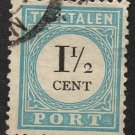NETHERLANDS Postage Stamp - 1881 - 1½c Postage Due (Sc. #J4) - Used