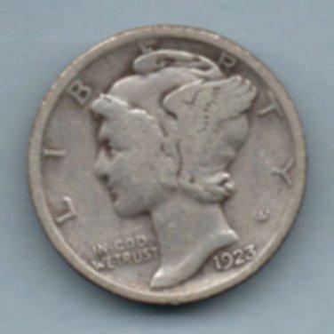 1923 Mercury Dime (U.S. Coin - 90% Silver) - Circulated