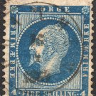 NORWAY Postage Stamp - 1856 - 4s King Oscar I (Sc. #4) - Used