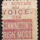 NEW ZEALAND Postage Stamp w/ Bonnington's Irish Moss Ad on Back - Sc. #61 - Used