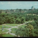 1950s BOSTON, MASSACHUSETTS - Aerial View of Boston Commons - Unused Postcard