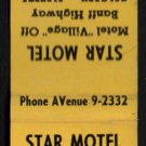 STAR MOTEL - Calgary, Alberta, Canada - 1950s(?) Matchbook Cover