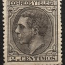 SPAIN Postage Stamp - 1879 - 2c King Alfonso XII (Sc. #242) - Unused