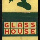 GLASS HOUSE Restaurants - Vintage 1960s(?) Matchbook Cover