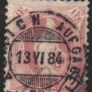 SWITZERLAND Postage Stamp - 1882 - 1fr Helvetia (Sc. #87) - Used