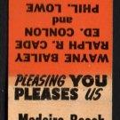 MADEIRA BEACH BARBER SHOP - Madeira Beach, Florida - Vintage Matchbook Cover