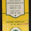 VAN ORMAN HOTELS - Indiana - Vintage Matchbook Cover