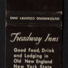 TREADWAY INNS - Massachusetts, New York, Florida, Vermont, Connecticut - Vintage Matchbook Cover