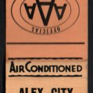 ALEX-CITY MOTEL - Alexander City, Alabama - 1950s(?) Vintage Matchbook Cover