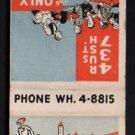 RICCARDO Restaurant & Gallery - Chicago, Illinois - 1950s(?) Vintage Matchbook Cover