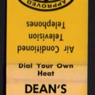DEAN'S MOTEL - Saugus, Massachusetts - 1950s(?) Vintage Matchbook Cover