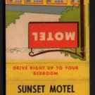 SUNSET MOTEL - Calgary, Alberta, Canada - 1950s(?) Vintage Matchbook Cover