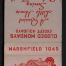 MARY HACKETT'S - Duxbury, Massachusetts - 1950s(?) Vintage Matchbook Cover