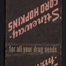 STINEWAY - FORD HOPKINS Drug Stores - Vintage Matchbook Cover