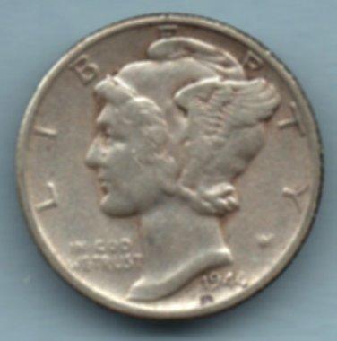 1944-S Mercury Dime (U.S. Coin - 90% Silver) - Circulated