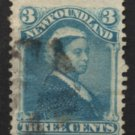 NEWFOUNDLAND Postage Stamp - 1880 - 3c Queen Victoria (Sc. #49) - Used