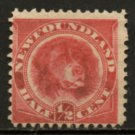 NEWFOUNDLAND Postage Stamp - 1896 - ½c Newfoundland Dog (Sc. #57) - Unused (no gum)